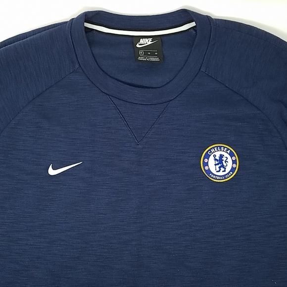 half off b3c6e 89597 *Nike Men Chelsea Football Club Sweatshirt Navy XL NWT
